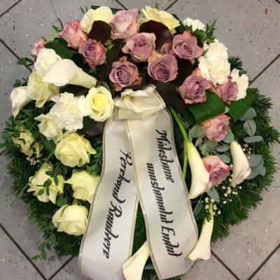 Matusepärg lilla-roos-kalla-nelk ja lint