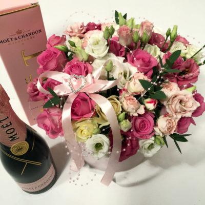 Karp lilledega ja MoetRose