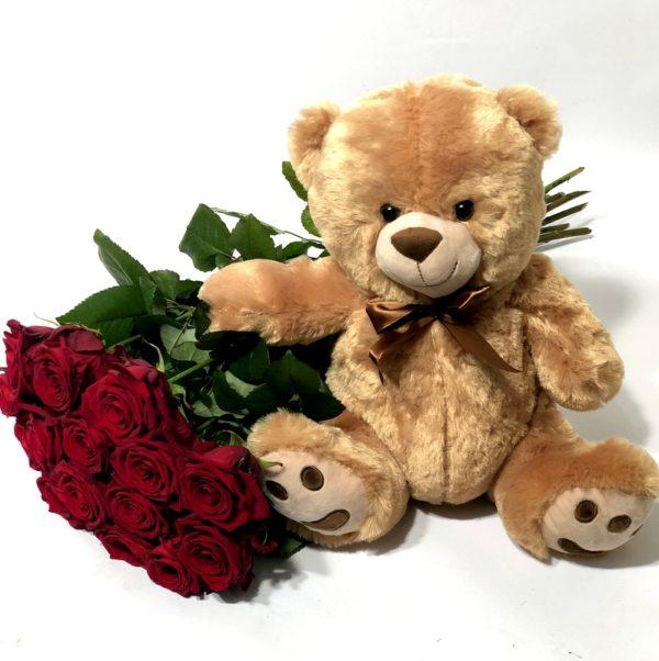 809a0f55776 Suur karumõmm ja pikad punased roosid   Lillekuller Tallinnas ja ...