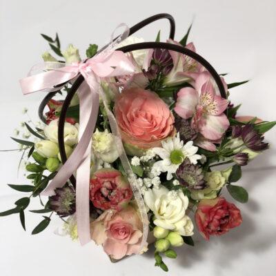 Lillekorv roosa2